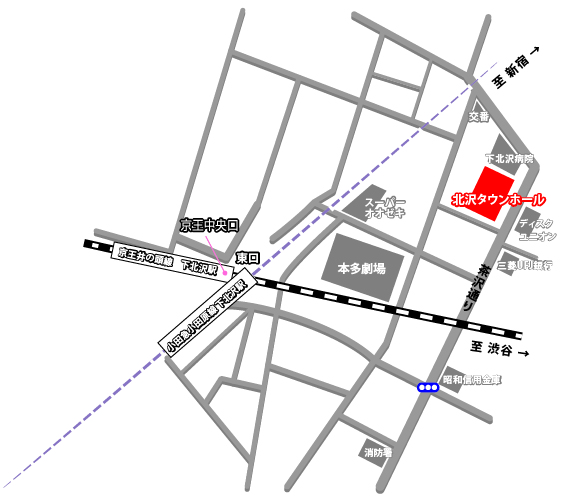 北沢タウンホール 地図